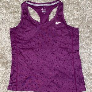 Nike Dri-fit Running tank purple w/black triangles